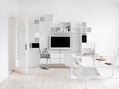 asymmetric shelves design for office - Google Search