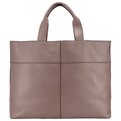 Buy Kin by John Lewis Tyra Leather Tote Bag, Taupe Online at johnlewis.com