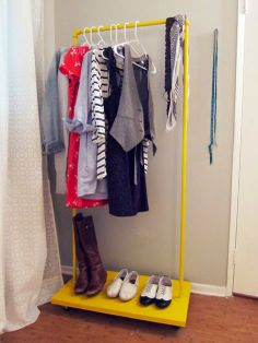 Rolling Clothes Rack, Rolling Rack, Clothes Rail, Hanging Clothes, Clothes Storage, Shoe Storage, Diy Storage, Extra Storage, No Closet Solutions