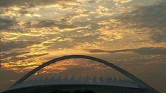 Sunrise over Moses Mabhida Stadium ..from our balcony ...