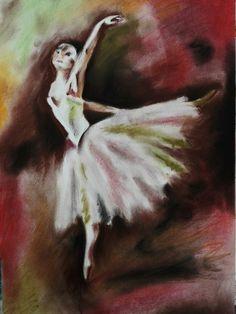 Pastel copy of Degas's dancer. #degas #dancer #ballet #pastel #drypastel #copy #painting #drawing #vsco #vscocam #schoolofart