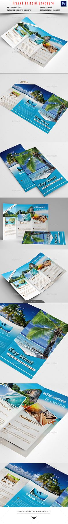 Travel / Holiday Trifold Brochure Template #design Download: http://graphicriver.net/item/travel-holiday-trifold-brochure/10350914?ref=ksioks