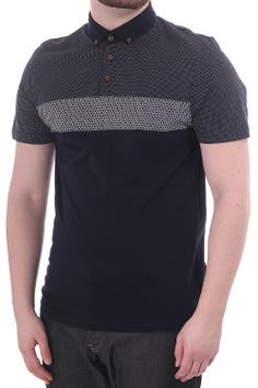 Mondrin Ted Baker ss polo with contrast stripe detail