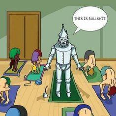 Aw, Tin Man can at least do Mountain pose! Yoga Cartoon, O Train, Hip Problems, Flexibility Training, Exotic Dance, Psoas Muscle, Go For It, Runner Girl, Tin Man