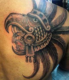#Repost @chuyortega  #Aztec #eagle #warrior on the Homie Dan C. #mentallytwisted #mentallytwistedtattoos #chuyortega #bishoprotary #magirotary #azteca #shoulderpiece #inklike #tattoo #tatuaje #aztectattoo #chicanostyle #blackandgrey #longbeach #cali #lbc #inkformer