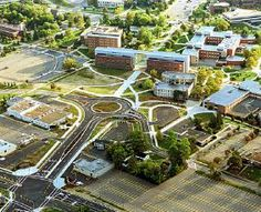 An aerial shot of Western's campus