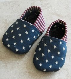 4th of July Cloth Baby Shoes... Sew Patriotic!