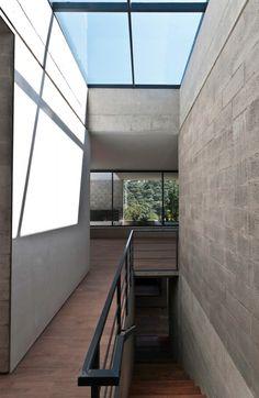 Skylight above stair case