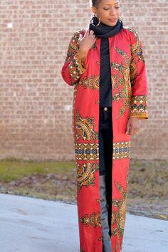 dashiki fabric coat tutorial