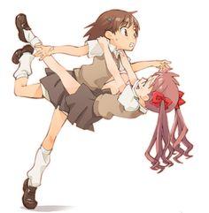 Misaka and Kuroko