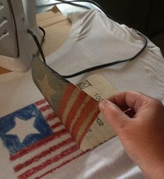 to Make a Flag Shirt How to Make a Flag Shirt by Michell Kaul -- Everyone should make this.This woman is AMAZING!How to Make a Flag Shirt by Michell Kaul -- Everyone should make this.This woman is AMAZING! Patriotic Crafts, Patriotic Decorations, July Crafts, Holiday Crafts, Patriotic Party, Holiday Ideas, Fourth Of July Shirts, Fourth Of July Decor, 4th Of July Party