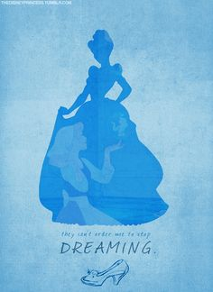 silouette of Cinderella:Dreaming