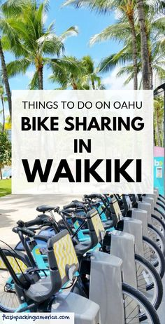 Is it easy to use a bike sharing bike for getting around Waikiki and Honolulu? Travel Destinations Beach, Beach Travel, Hawaii Travel, Beach Trip, Us Travel, Travel Tips, Hawaii Honeymoon, Hawaii Vacation, Vacation Ideas