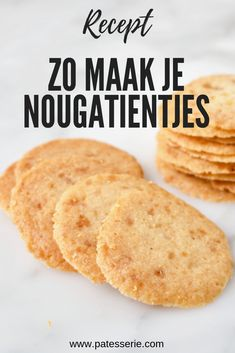 Amsterdamse Koggetjes (Nougatientjes) – Food And Drink Dutch Recipes, Baking Recipes, Sweet Recipes, Cookie Recipes, Cheap Clean Eating, Clean Eating Snacks, Appetizer Recipes, Snack Recipes, Pie Cake