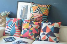 4 Vintage Contracted Geometric Printed Cushion Covers Decorate Gift Pillow Cases