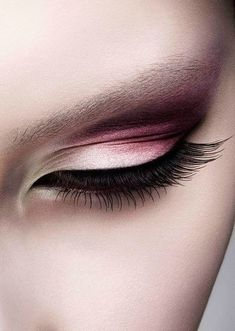 Pink and Brown Ombre Eye Makeup