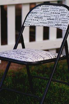 Freshened Up Folding Chair