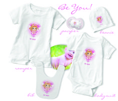 Fairy Floss 'Be You' romper, bodysuit, beanie, bib and pacifier!