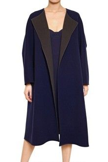 Jil Sander Two Tone Soft Wool Cocoon Coat