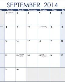 An easy to edit 2014 calendar template for excel home office numbers templates saigontimesfo