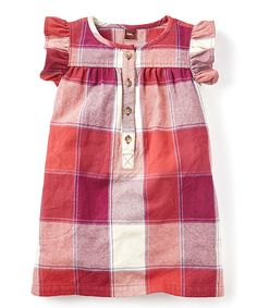 This Tea Collection Cardinal Elena Flutter-Sleeve Dress - Girls by Tea Collection is perfect! #zulilyfinds