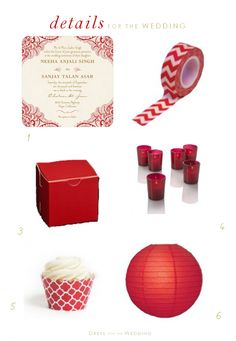 Red Wedding Decor Ideas | Let us help plan all the details for your #Chicago wedding! www.PerfectDayWeddingPlanners.com