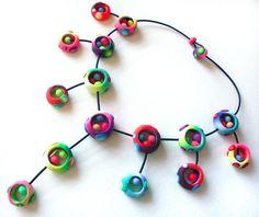 Collar de Arcilla Polimérica Nidos de Silvia Ortiz de la Torre por DaWanda.com
