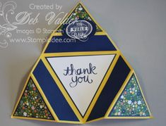 Origami Triangle Star Card with Deb Valder