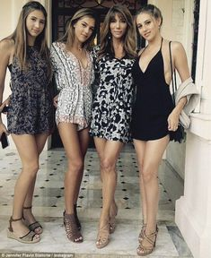 'I have to give Jennifer all the credit': Sylvester Stallone has praised wife Jennifer Flavin with raising their three lovely daughters (L-R) Scarlet, Sistine and Sophia Sophia Stallone, Sylvester Stallone Daughters, Stallone Sisters, Silvestre Stallone, Celebrity Couples, Celebrity Style, Jennifer Flavin, Beautiful Costumes, Tall Women