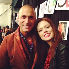 """Noted fashion photographer"""" Nigel Barker and I backstage at Betsey Johnson. You can't say his name without that FYI"""