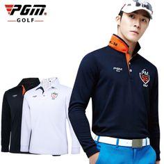 PGM Marka Mens Açık Fit Polomens Golf Polo Gömlek Hızlı Kuru Uzun Kollu Golf T-Shirt Giyim Masa Tenisi Gömlek