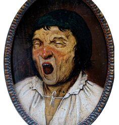 ¿Pieter Brueghel el Viejo?, Hombre bostezando (fines del XVI), Museo de Bellas Artes de Bélgica, Bruselas.