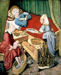 Medieval Bed, Medieval Life, Medieval Fashion, Medieval Clothing, Renaissance, Medieval Manuscript, Illuminated Manuscript, St Jean Baptiste, Medieval Paintings