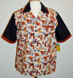 Guns & Holsters print men's bowling style shirt by DaleRaeDesigns