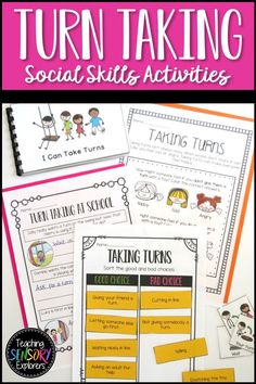Turn Taking: Social Skills Worksheets, Activity and Social Narrative Teaching Emotions, Autism Teaching, Teaching Resources, Drawing Activities, Developmental Disabilities, In Writing, Social Skills, Life Skills, Special Education