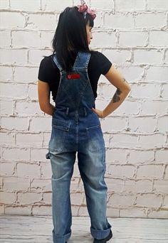 a588ff587ec2 Carhartt Overalls Women Denim Pants 80s GRUNGE Suspender Jean Pants ...
