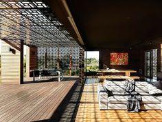 decorative metal mesh roof