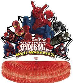 Ultimate Spiderman Web Warriors-Centerpiece 1ct Spiderman Web, Ultimate Spider Man, Online Party Supplies, Centerpieces, Comic Books, Superhero, Warriors, Character, Toys