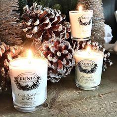 """Ren Lykke on Instagram: """"J u l e d u f t  Tre nydelige duftlys med forskjellige herlige juledufter. Nå kan alle rom i huset dufte av jul✨  Duftlysene kommer i en…"""" Pillar Candles, Candle Jars, Christmas, Navidad, Weihnachten, Yule, Christmas Movies, Xmas, Noel"""