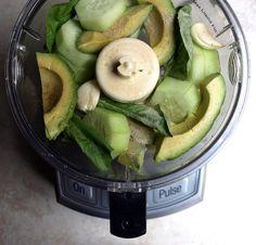 Zucchini Pasta + Creamy Avocado-Cucumber Sauce