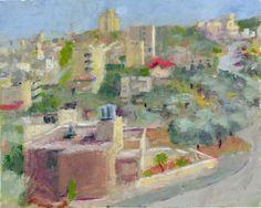 Beit Jala Palestina 03 2014 oil on paper 34 x 27 cm Oil, Watercolor, Paper, Palestine, Pen And Wash, Watercolor Painting, Watercolour, Watercolors, Watercolour Paintings