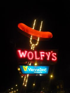 Chicago's Wolfy's Hot Dogs...made from Vienna Beef  i spent Many High School Lunch Periods at Wolfy's