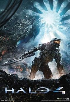 Halo 4 Key Art Video Game Poster 13 x 19in