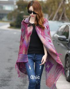 New Fashion Women's Cape Poncho Knit Top Cardigan Hip Scarf Shawl