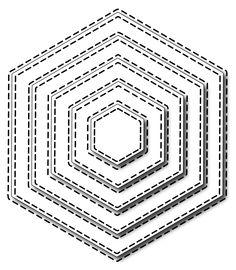 **PRE-ORDER** Frantic Stamper Precision Die - Stitched Hexagons