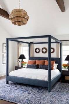 Rug under bed should extend to width of side tables (a problem with low chest which goes to wall) and beyond length of bed almost to dresser but starting in front of side tables