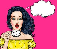 "Surprised young sexy woman with open mouth with cup.Comic woman. Amazed women. Pop Art girl. l Cool wonens - our source of inspiration <a href=""https://hembra.club/category/beach-lifestyle/girl-body"">Many girls good</a>  #sexygirls #coolgirl"