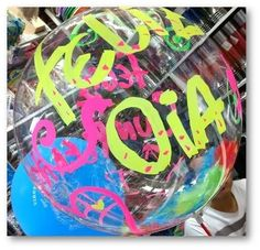Let The Fun Begin, Balloons, Lettering, Boutique, Articles, Custom Balloons, Custom Boxes, 60s Party, Clear Balloons