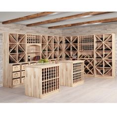 The exclusive and high-quality wine rack system PRESTIGE combines functionality with design. Give your wine cellar, your wine store or wine tasting room an elegant atmosphere in which your guests can thoroughly enjoy the tasting of wine. Wine Shelves, Wine Storage, Storage Shelving, Shelving Ideas, Crate Storage, Cave A Vin Design, Wine Shop Interior, Wine Cellar Basement, Home Wine Cellars