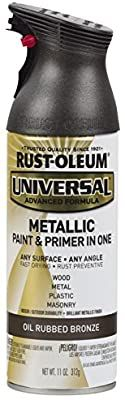 Rust-Oleum Universal All Surface PK Spray Paint, 11 oz, Metallic, 6 Pack, Oil Rubbed Bronze Industrial Curtain Rod, Dollar Tree Halloween Decor, Rust Prevention, Metallic Spray Paint, Double Rod Curtains, Wrought Iron Fences, Aged Copper, Paint Primer, Oil Rubbed Bronze